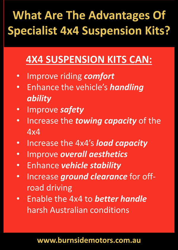 what are the advantages of specialist 4x4 suspension kits?